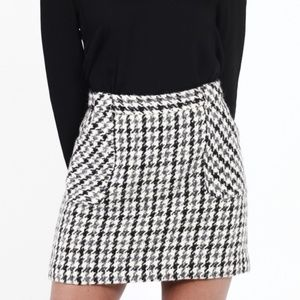 J Crew Wool Houndstooth Skirt